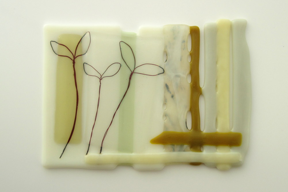 Fused glass art by Helen Smith